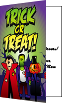 Halloween Trick or Treat Vampire Card