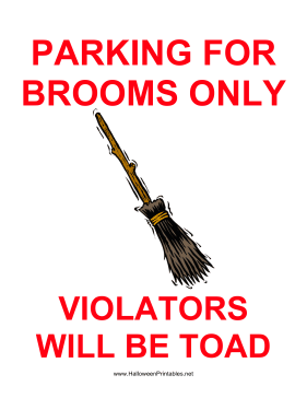 photo relating to Quarantine Sign Printable called Broom Parking Signal