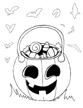 Candy Jack O Lantern Coloring Page