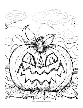 Halloween Scary Pumpkin Coloring Page Scary Pumpkin Page To Color