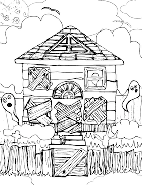 halloweenspider1 additionally 395190936026038943 together with haunted house coloring page in addition house moreover carving pumkin stencil