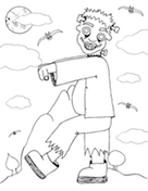 Frankenstein Coloring Page