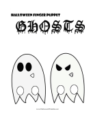 Finger Puppet Ghosts