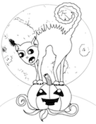 spooky cat coloring pages - coloring pages