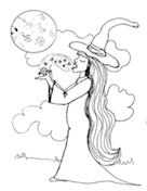 Witch Candy Coloring Page