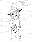 Witch Costume Coloring Page